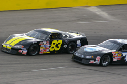 Late-Model racer Tyler Hughes at Southern National Motorsports Park