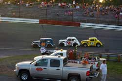 Fifteen-year-old Tyler Hughes recently began the final race of the season with a 20 point lead and in turn earned the Legend points championship at the Old Dominion Speedway.