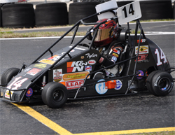 Tyler Clem races in Quarter Midgets of American Series at Tampa, Florida