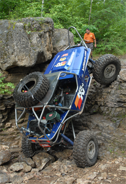 K&N sponsored vehicle negotiates the Ultimate Adventure Four Wheeling Road Trip