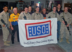 NHRA Pro Stock Champions Warren Johnson and Jason Line visit American Soldiers on USO-Sponsored Morale Tour in Kuwait