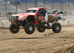 Modified Toyota desert truck can go from a short dirt course to the Baja 1000 and perform well with K&N air filters