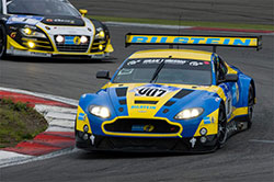 Vantage GT3 is powered by a modified version of the Aston Martin production 6.0-liter V12 engine. It produces more than 600 bhp and 700 Nm of torque. Its position in the car has been changed slightly compared to the road model to achieve the best weight balance.