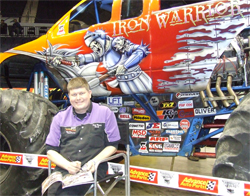 Iron Warrior Driver Trey Myers also made time for fans at the sold out Monster Jam event in Little Rock