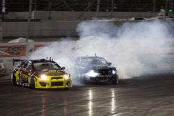 Monster Energy Falken Tire 2011 Ford Mustang battles for position
