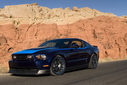 Profesional drifter Vaughn Gittin Jr. presented a new generation of the Ford Mustang to the world at the SEMA Show