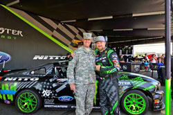 Over a 1000 fans welcomed Vaughn Gittin Jr. and Ryan Tuerck to Joint Base Lewis-McChord for a much deserved day of fun and festivities.