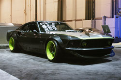 The RTR-X had to have the floor raised 5 inches to get the car to sit that low