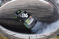 His K&N sponsored Monster Energy Nitto Tire Ford Mustang RTR is every bit as identifiable as Gittin.