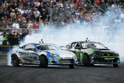 The side-by-side, smoke spewing, tire chunk tossing drama that is Formula D continues to draw larger crowds with every event.