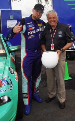 Vaughn Gittin Jr. with legendary driver Brian Redman, host of the Kohler International Challenge