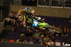 Vicki Golden dominated the Women's Motocross event at X Games 17 only two days after celebrating her 19th birthday.