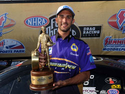 NHRA Pro Stock Racer Vincent Noble wins 2012 K&N Horsepower Challenge at Summit Racing Equipment Nationals