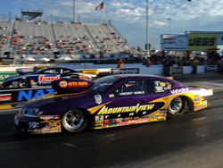 Vincent Nobile and the NHRA Pro Stock Mountain View Tire Dodge Avenger