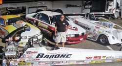 Vinny Barone Racing campaigns four cars, the car directly behind Barone is driven by Sal Biondo.