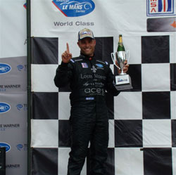 Primetime Team owner and driver Joel Feinberg makes podium in American Le Mans Series GT2 in Elkhart Lake, Wisconsin