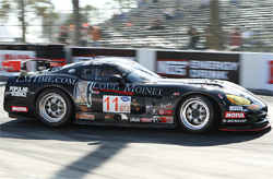 Primetime Race Teams Dodge Viper has a V10 engine and was developed for the ALMS GT2 Class