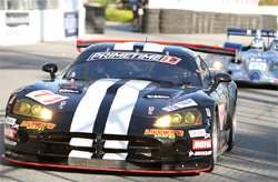 Primetime Viper made its way through the ALMS Series at Long Beach and passed a Riley built Corvette and a Doran built Ford GT