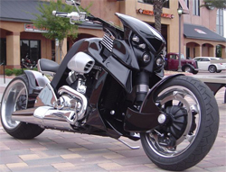 Travertson V REX is powered by a genuine Harley Davidson vrod motor