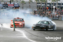 The D1GP season kicked off with Forrest charging hard and landing a solid qualifying position.