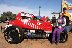At age fifteen Wendy Mathis became the first female to win the Florida State Quarter Midget Championship