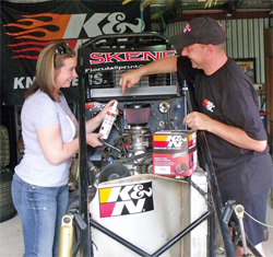 K&N sponsored racer Wendy Mathis is Down Under for her first dirt wingless sprint car races