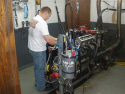 Engine Dyno at Wesmar Racing Engines in Bixby Oklahoma