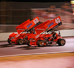 Winged Sprint Car Team Western Speed Racing's Tim Skoglund and Cody Gerhardt