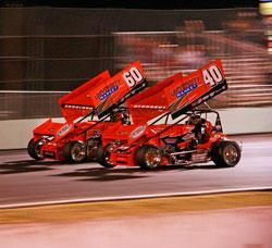 Winged Sprint Car Team Western Speed Racing's Tim Skoglund and Cody Gerhardt