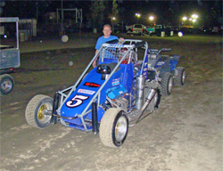 K&N sponsored racer Cody Swanson made his Western States USAC midget debut at Kings Speedway in California