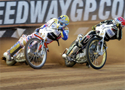 Australian Jason Crump has a 36 point lead in the World Speedway Grand Prix with only three rounds left in the series