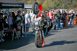 "Tyler Shepard became interested in motorcycle wheelie shows after watching ""Wheelie King"", Doug Domokos perform in 1995."