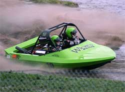 Wicked Racing Team in its Jet Sprint Boat