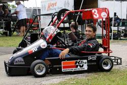 Kart racer Jonathon Little of Wyld Bore Racing
