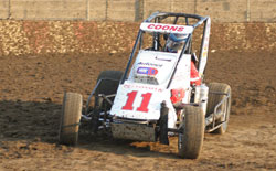 Jerry Coons Jr., driving the second Wilke Spike/Toyota, qualified second fastest and finished in seventh place at ORP.