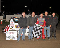 With Swanson's win at ORP, Wilke-PAK Motorsports becomes the winningest team in USAC history.