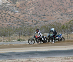 K&N sponsored rider Sammy Halbert opened up his Harley Davidson in Rosamond, California, photo by Janice Blunt