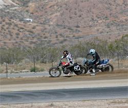 K&N sponsored rider Sammy Halbert opened up his Harley Davidson in Rosamond, California, photo by Janice Blunt