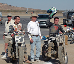 K&N sponsored Rider Sammy Halbert won the West Coast Dirt Track Series race in his Harley Davidson XR 750, photo by Jancie Blunt