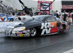 Warren Johnson raced his K&N Pontiac to the No. 5 spot in Pro Stock at the Kragen O'Reilly NHRA Winternationals