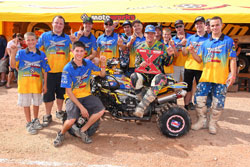 The Can-Am/Motorworks team would like to congratulate Josh Frederick on winning the 2010 WORCS Pro ATV Championship, and the rest of the team for a job well done.