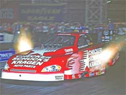 Del Worsham in red CSK Funny Car