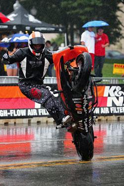 Bill Dixon in the Rain at Indianapolis