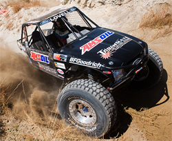 Torchmate Ford Ranger held up despite massive jumps, staircases and huge boulders in 2009 XRRA National Championship Race, courtesy of Chad Jock Photography