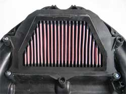 Air Filter Installed in Yamaha YZF R6 and YZF R46