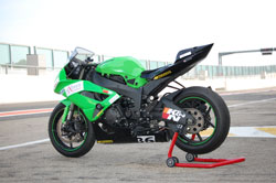 Team Sigma MBR competes on Kawasaki ZX6R's, and for 2011 they will be sponsored by K&N.