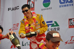 Zhu Xun celebrated his third place podium finish in the Xi Delong Cup 2010, but kept things in perspective by his belief that in racing, as in life, the journey is the thing.
