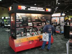 K&N display at the at the Long Beach, California Progressive International Motorcycle Show