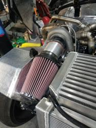 The massive K&N Filter can feed more than enough air than the turbo KA20 needs