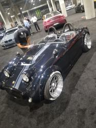 The turbo Honda powered Bugeye Sprite gets a final polish for the LA Auto Show opens to the public